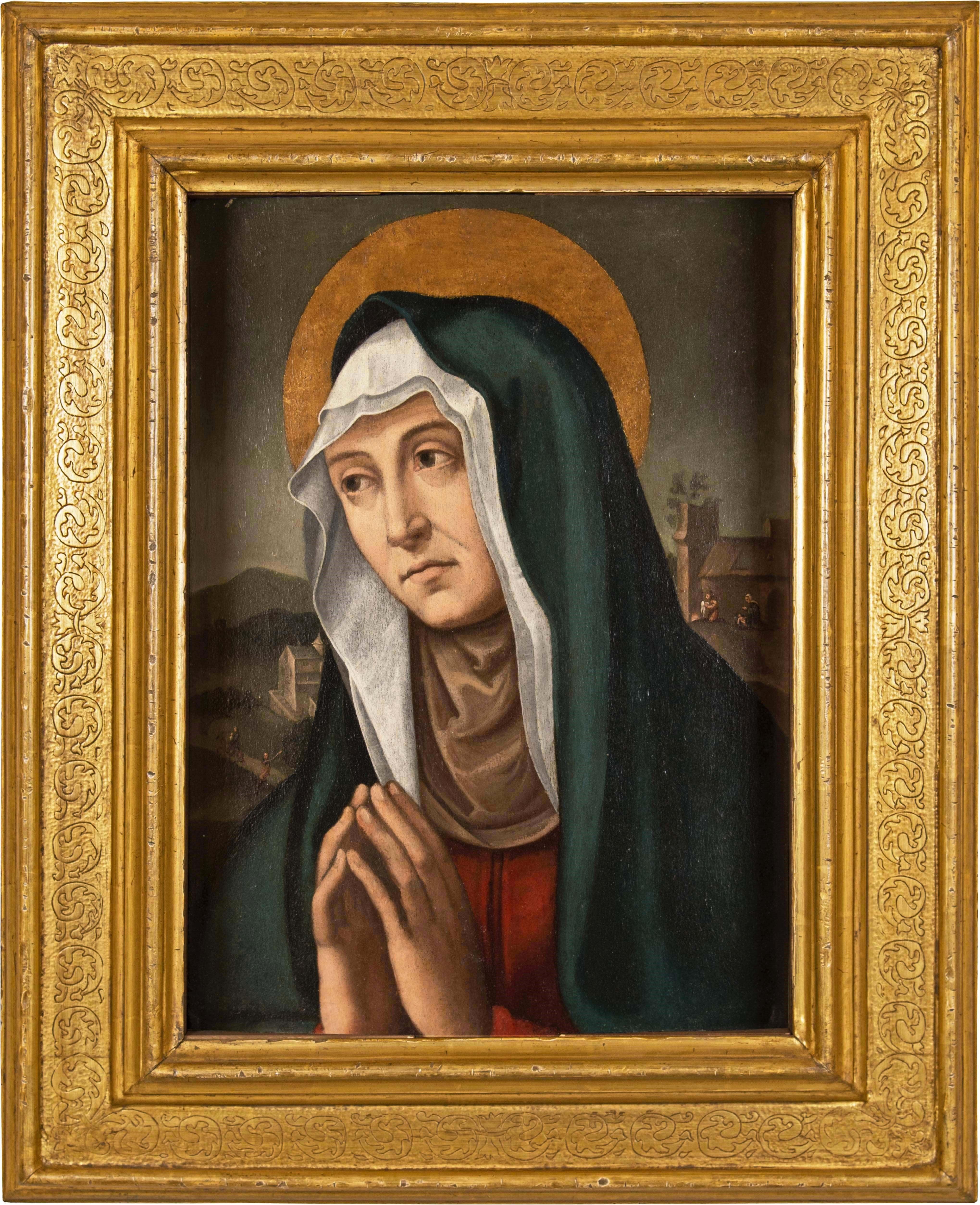 16-17th century Italian figure painting - Anne - Oil on panel Renaissence