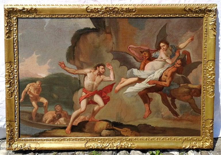 Giulio Carpioni - Orpheus and Eurydice - 17th Century - Oil on canvas - Brown Figurative Painting by Giulio Carpioni