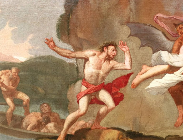 Giulio Carpioni - Orpheus and Eurydice - 17th Century - Oil on canvas For Sale 2