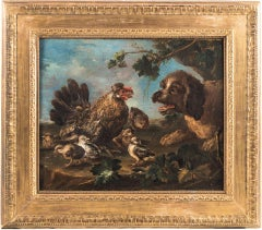 "Angelo Maria Crivelli - ""Animal depiction in a landscape"" - 18th - Oil on canvas"