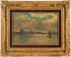 "Beppe Ciardi (Venice 1875 - 1932) - ""View of Venice"". 19th century, Signed"