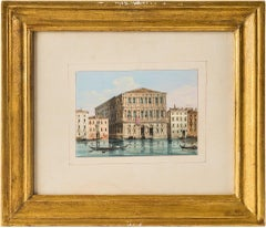 """Carlo Grubacs, """"View of the Grand Canal with Ca 'Pesaro in Venice"""", 19th century"""
