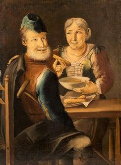 "Giacomo Francesco Cipper - ""Poor elders eat Savoiardi biscuits"". 18th Century"
