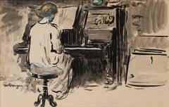 Adya au piano au Bateau Lavoir