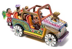 20'' Tall Nativity Jeep Wood carving Alebrije Sculpture Mexican Folk Art