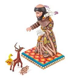7'' San Francisco de Asis / Woodcarving Mexican Folk Art Sculpture