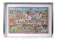Independencia de Mexico / Amate Paper Mexican Folk Art Painting Frame
