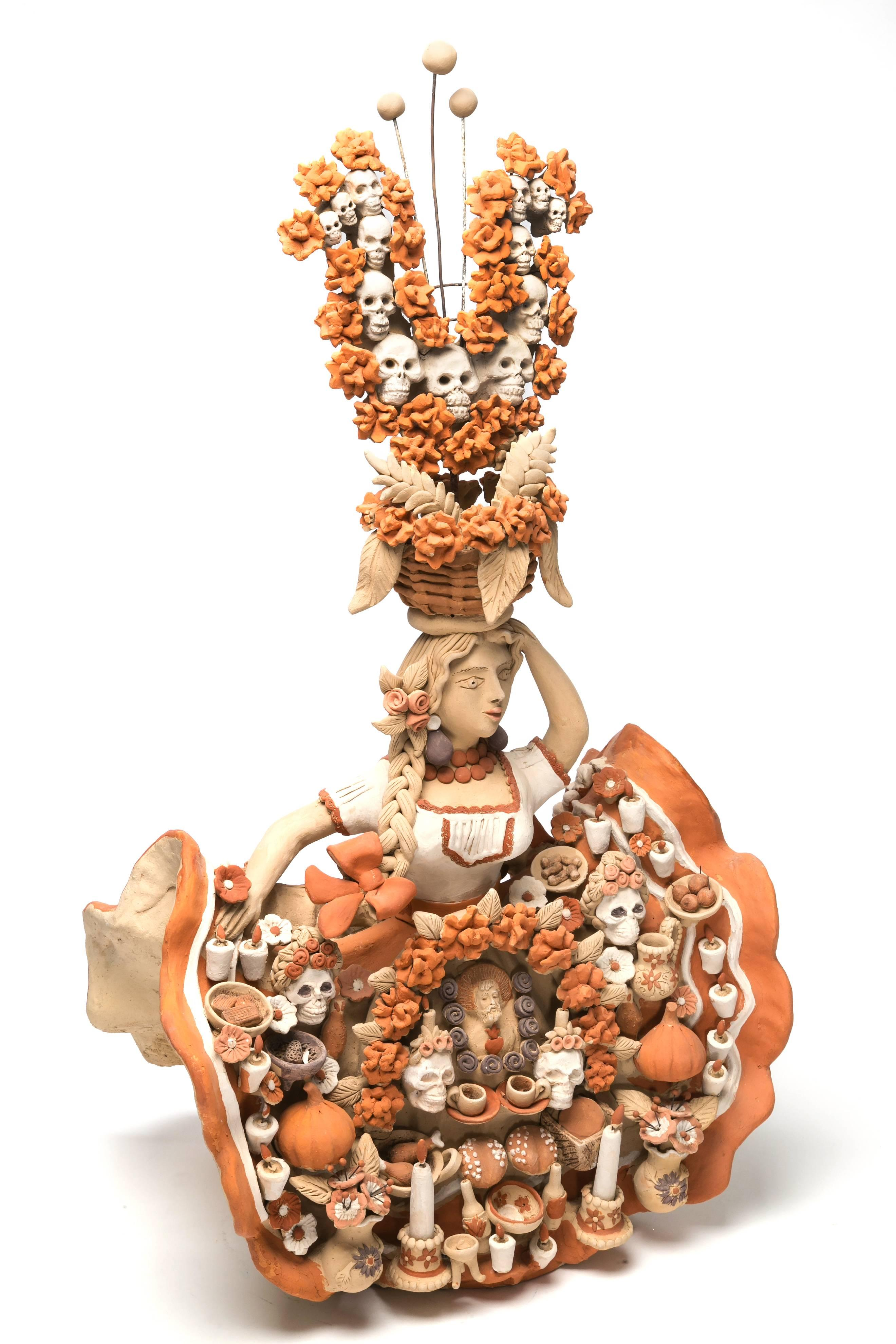 China Oaxaqueña con Altar de Muertos / Ceramics Mexican Folk Art Clay