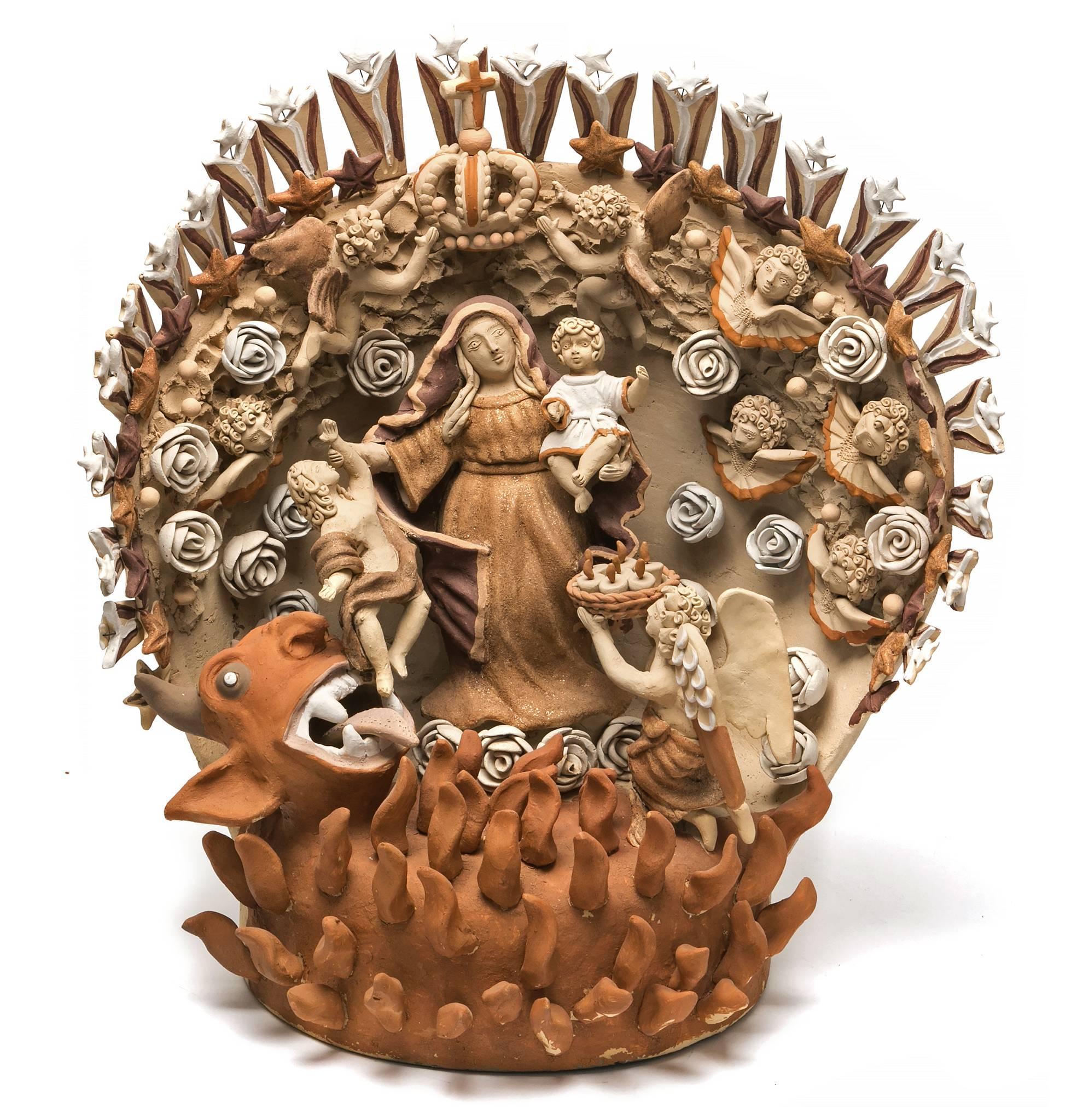 El Bien contra el Mal / Ceramics Mexican Folk Art Clay