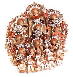 Nacimiento Tehuano / Ceramics Mexican Folk Art Clay Nativity