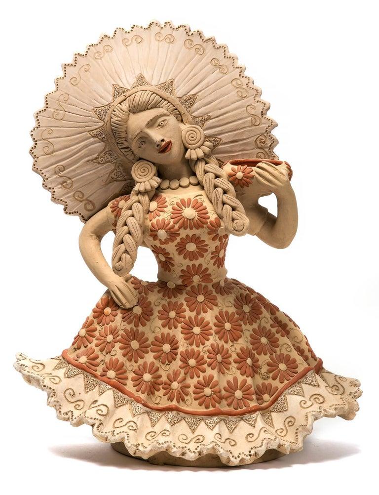 Muñeca Tehuana / Ceramics Mexican Folk Art Clay
