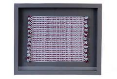 Tapete Miniatura Azul y Vino / Textiles Mexican Folk Art Miniature Rug Frame