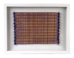 Tapete Miniatura Morado y Amarillo / Textiles Mexican Folk Art Miniature Rug