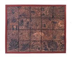 30'' Historia del Mezcal / Ceramics Mexican Folk Art Clay Frame