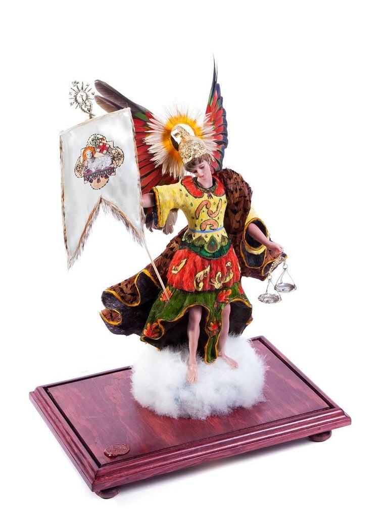 15'' San Miguel Arcangel / Wax Sculpture Mexican Folk Art