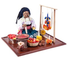 20'' La Artesana / Wax Sculpture Mexican Folk Art