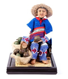 14'' Aguacatero / Wax Sculpture Mexican Folk Art