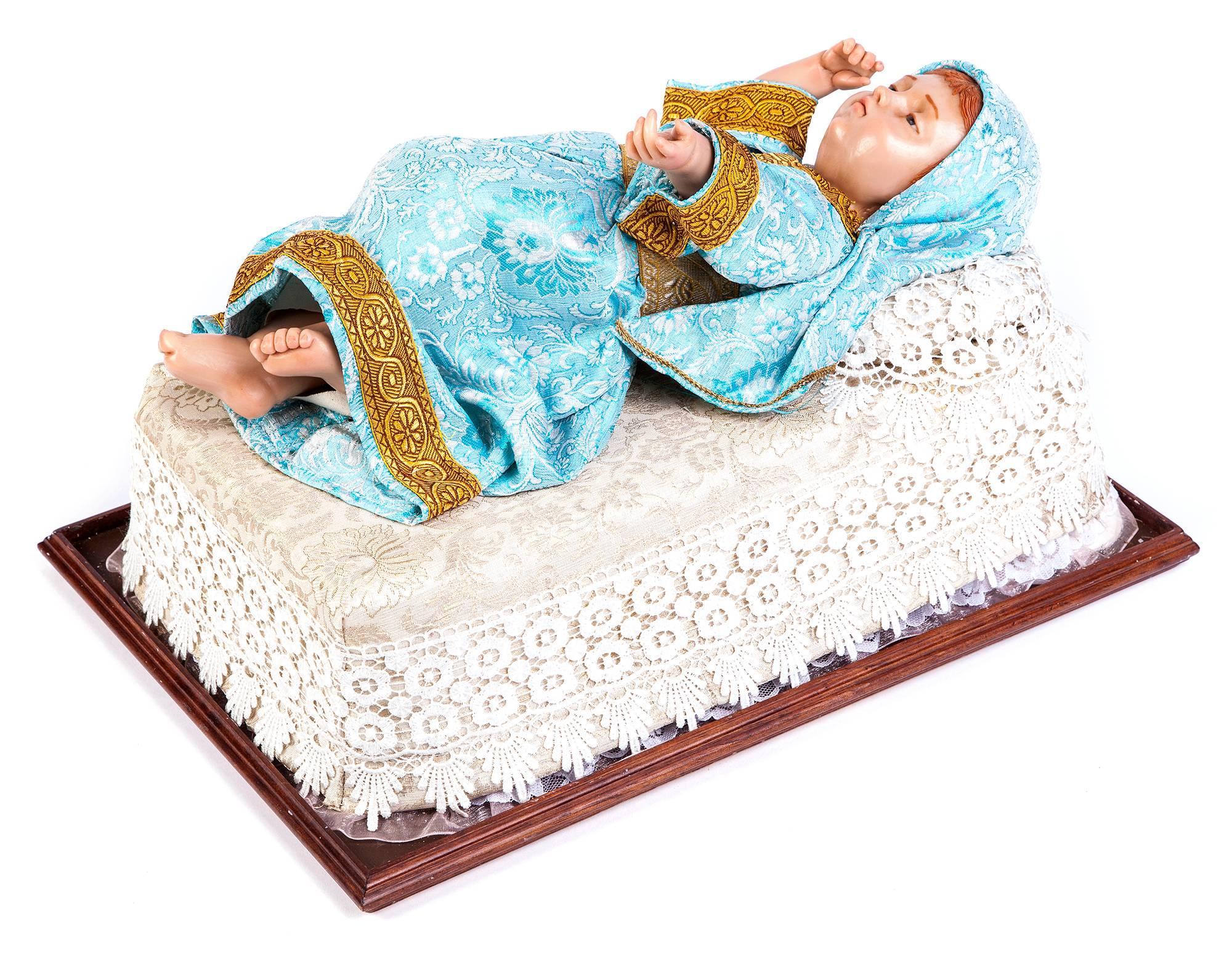 19'' Infantita / Wax Sculpture Mexican Folk Art