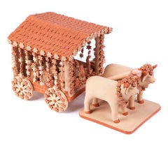 Carreta con Nacimiento / Ceramics Mexican Folk Art Clay Nativity