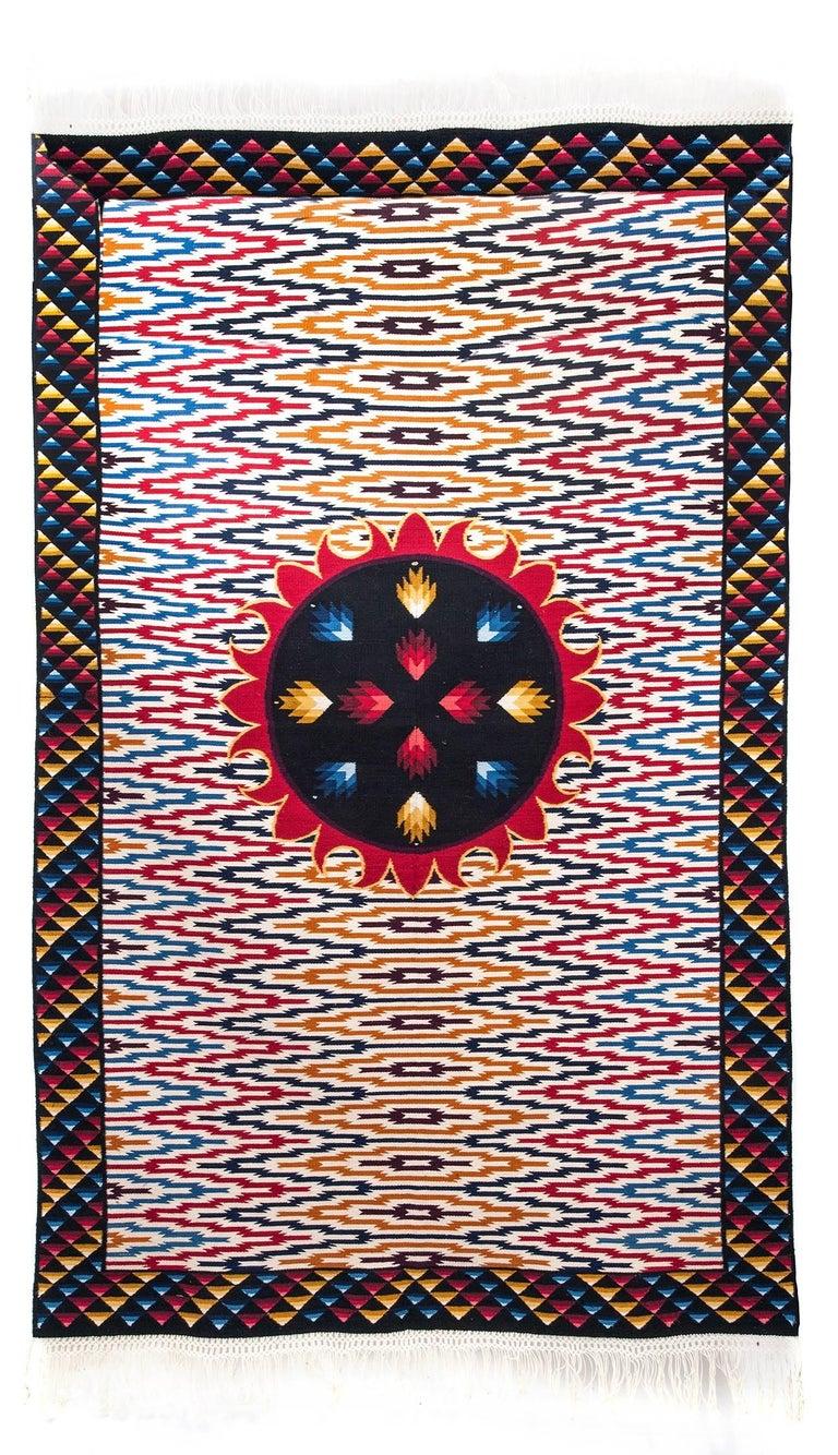 El Sol / Textiles Mexican Folk Art Rug