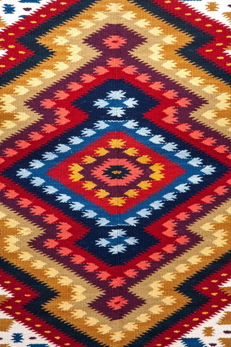 Diamante / Textiles Mexican Folk Art Rug For Sale 1