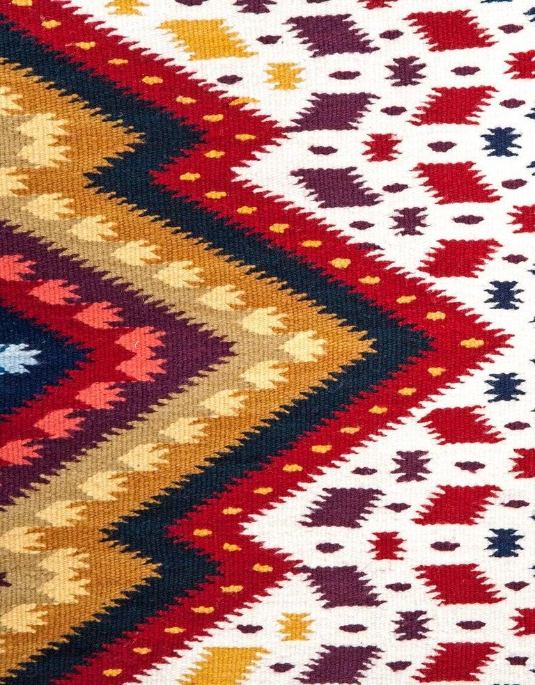 Diamante / Textiles Mexican Folk Art Rug For Sale 2