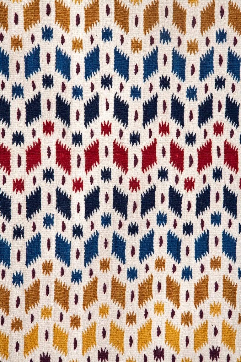 Diamante / Textiles Mexican Folk Art Rug For Sale 4