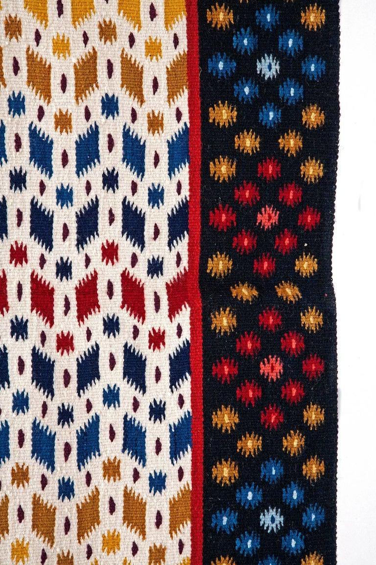 Diamante / Textiles Mexican Folk Art Rug For Sale 5
