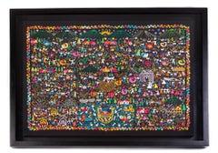 Tradiciones / Textiles Mexican Folk Art Embroidery Frame