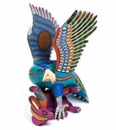 "15"" Espiritu Indomable Eagle / Wood carving Alebrije Mexican Folk Art Sculpture"