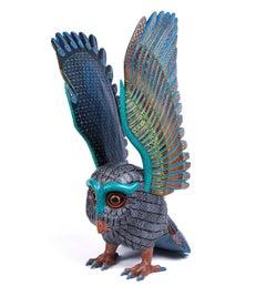 Guardian de la Noche Owl / Wood carving Alebrije Mexican Folk Art Sculpture