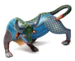 "15"" Toro Sangre Taurina Bull / Wood carving Alebrije Mexican Folk Art Sculpture"