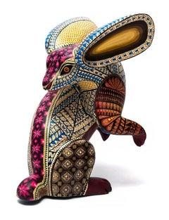 "9"" Conejo Zapoteco Rabbit / Wood carving Alebrije Mexican Folk Art Sculpture"