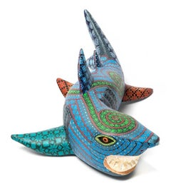 "15"" Tiburon Sonrisa / Wood carving Alebrije Mexican Folk Art Sculpture"
