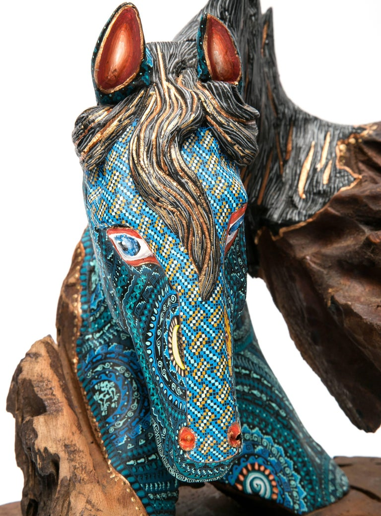 """FREE SHIPPING TO WORLDWIDE!  Artisan: Taller """"Manuel Jimenez""""  MASTERPIECE  Angelico Jimenez Carrillo & Isaias Jimenez Hernandez  Made with Copal wood, woodcarving technique gouges, machete and sandpaper, decorated with acrylic paintings with"""