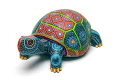 "10"" Tortuga Lomo de Diamante / Wood carving Alebrije Mexican Folk Art Sculpture"