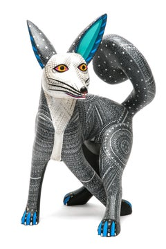 """14"""" Siberian Husky / Wood carving Alebrije Mexican Folk Art Sculpture"""