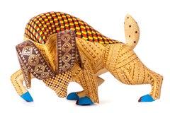 """12"""" La embestida del Cimarron / Wood carving Alebrije Mexican Folk Art Sculpture"""