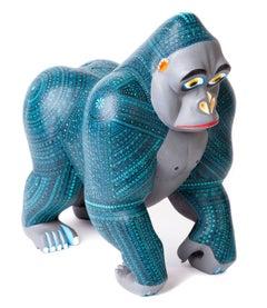 "10"" Gorila / Wood carving Alebrije Mexican Folk Art Sculpture"