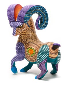 "6"" Cimarron Encantado / Wood carving Alebrije Mexican Folk Art Sculpture"