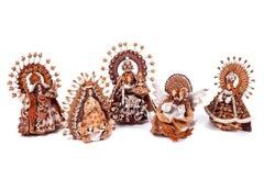 5 Virgenes / Ceramics Mexican Folk Art Clay