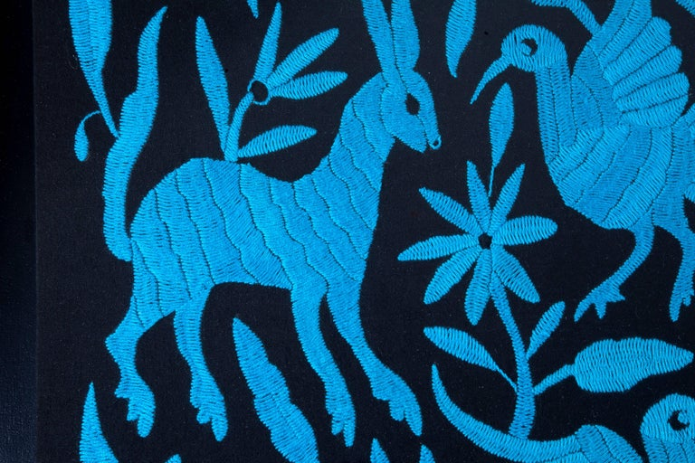 Tenango Noctuno / Textiles Mexican Folk Art Embroidery For Sale 4