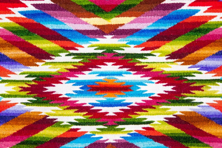 Sarape Ganador / Textiles Mexican Folk Art Serape For Sale 9