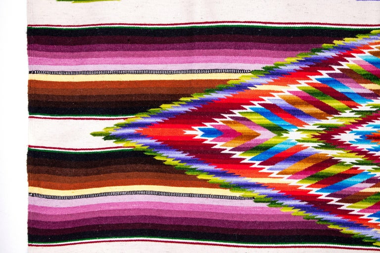 Sarape Ganador / Textiles Mexican Folk Art Serape For Sale 3