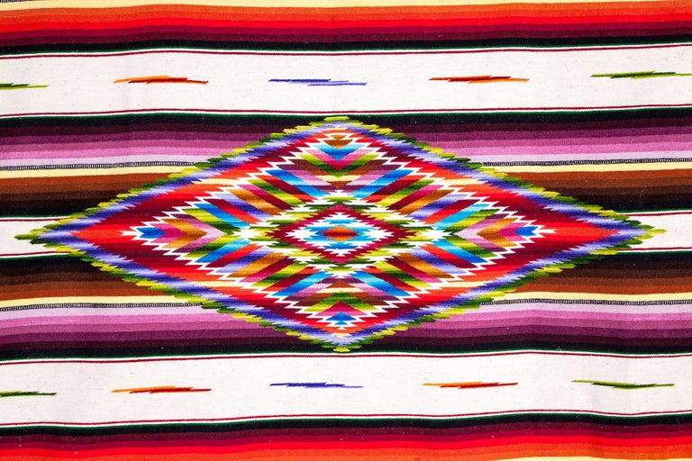 Sarape Ganador / Textiles Mexican Folk Art Serape For Sale 1