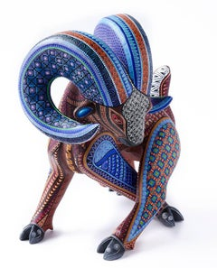 Carnero Azul / Woodcarving Alebrije Mexican Folk Art Sculpture