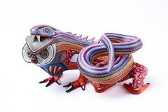 Fusion Vibora - Buho / Wood carving Alebrije Mexican Folk Art Sculpture