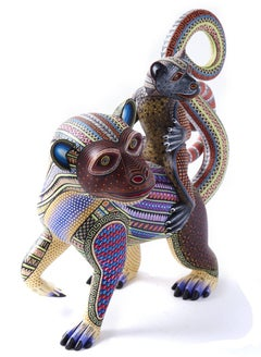Madre e Hijo / Wood carving Alebrije Mexican Folk Art Sculpture