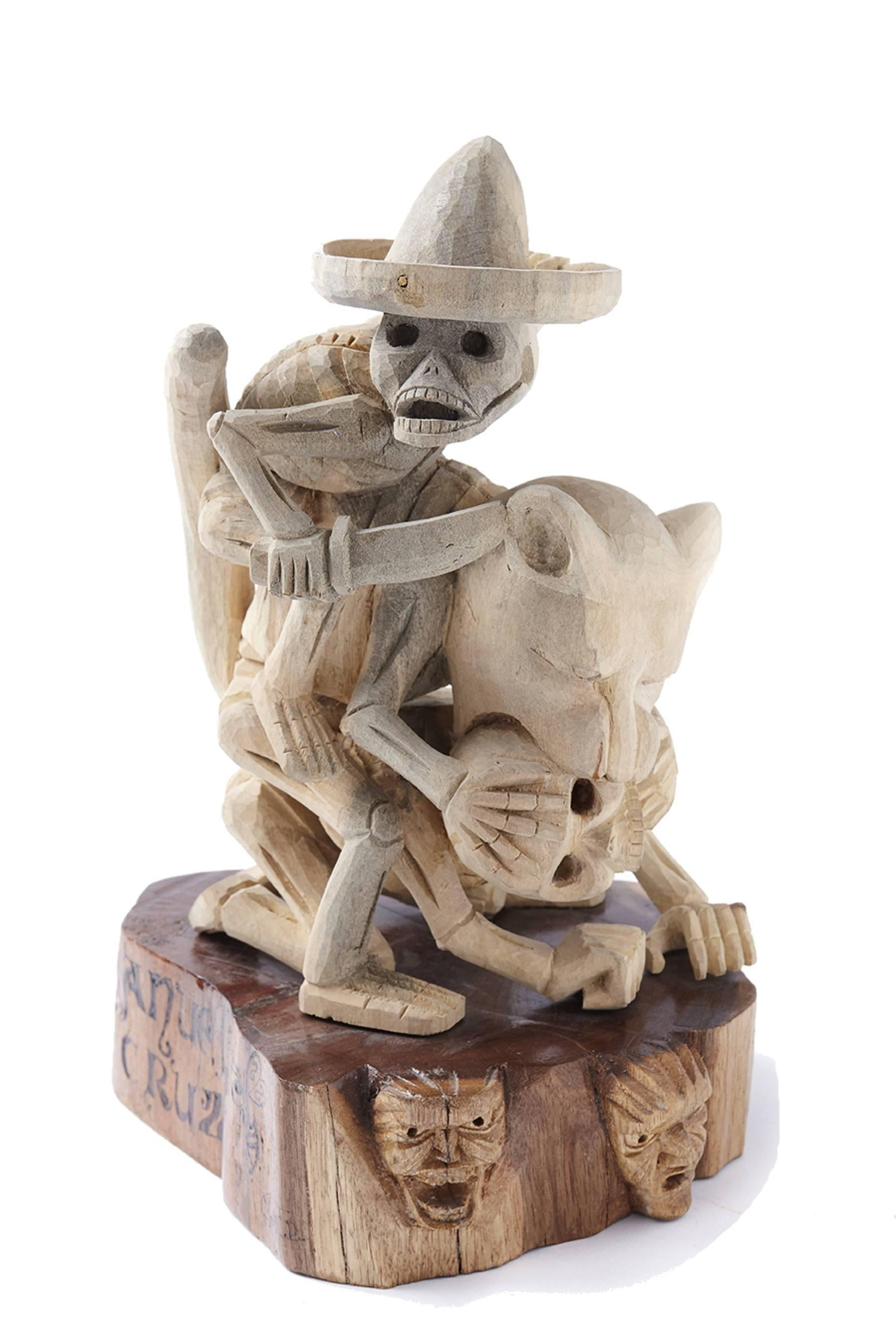 Juicio de la Muerte / Wood carving Alebrije Mexican Folk Art Sculpture