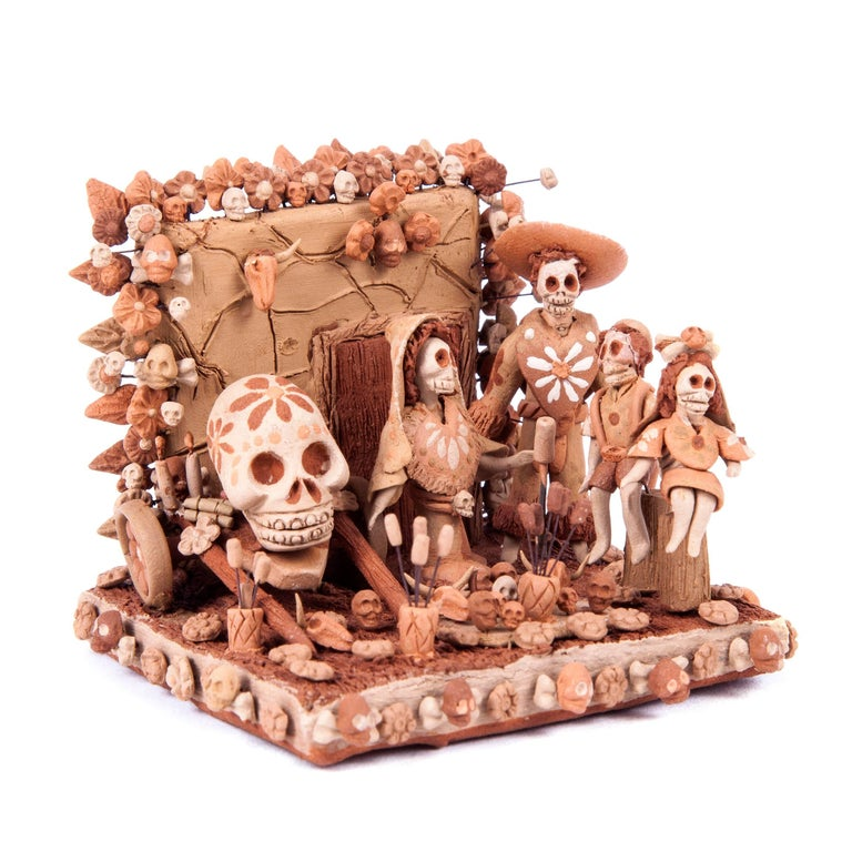Altar de Muertos / Ceramics Mexican Folk Art Miniature